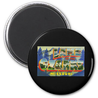 Greetings from Lake of the Ozarks Missouri 2 Inch Round Magnet