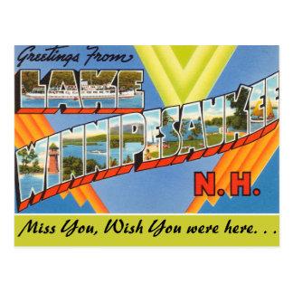 Greetings from Lake Winnipesaukee Postcard