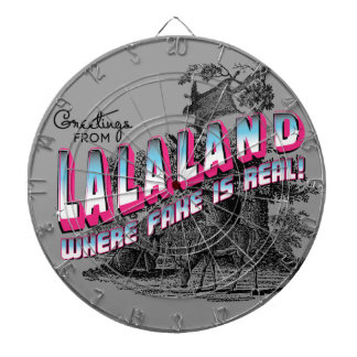 Greetings from LaLa Land - Fake is Real Dartboard