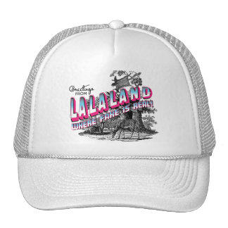 Greetings from LALA Land - where fake is real Trucker Hat