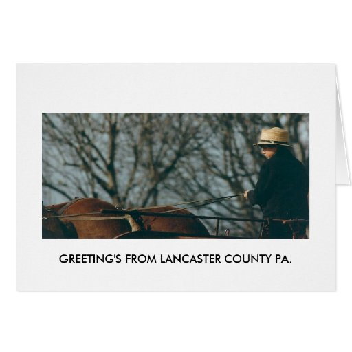 GREETINGS FROM LANCASTER POST CARD
