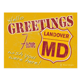 Greetings from Landover Maryland Postcard