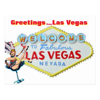 Greetings from Las Vegas Post Card