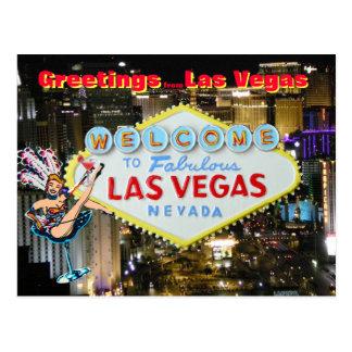 Greetings from Las Vegas Postcard