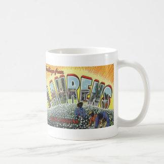 Greetings from Laurens SC Vintage Postcard Mug