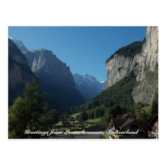 Greetings from Lauterbrunnen, Switzerland 1 Postcard