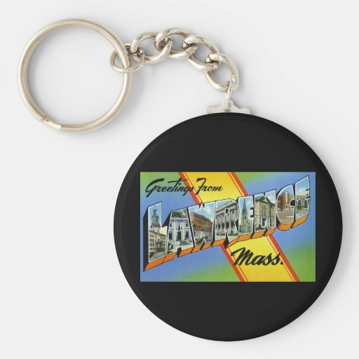Greetings from Lawrence Massachusetts Basic Round Button Keychain