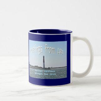 "Greetings From LBI New Jersey ""Old Barney"" Mug"