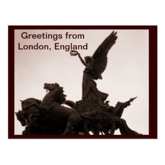 Greetings from london postcard