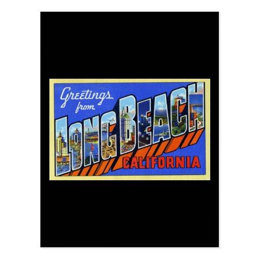 Greetings from Long Beach California Post Card