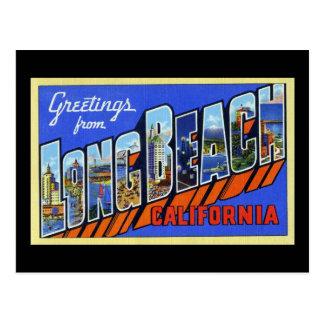 Greetings from Long Beach California Postcard