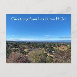 Greetings from Los Altos Hills! Postcard