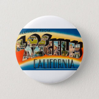 Greetings From Los Angeles Button
