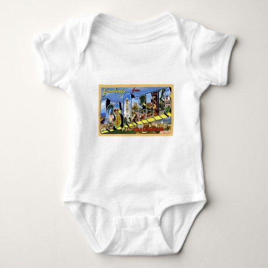 Greetings from Los Angeles California Baby Bodysuit