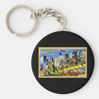 Greetings from Los Angeles California Basic Round Button Keychain