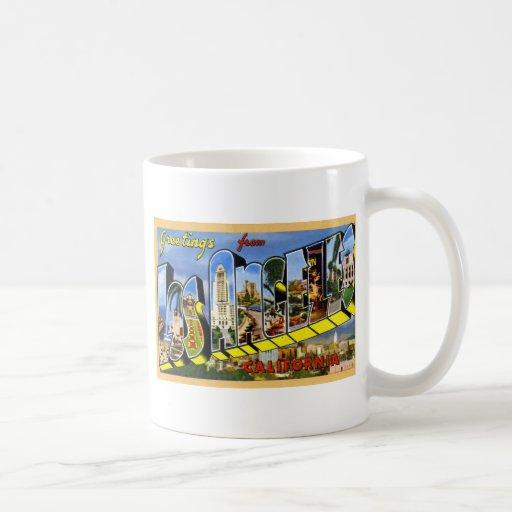 Greetings from Los Angeles California Mugs