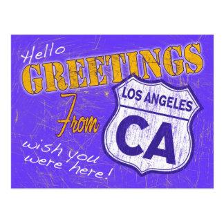Greetings from Los Angeles California Postcard