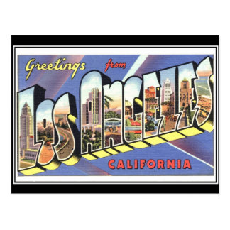 Greetings from Los Angeles California Vintage Postcards