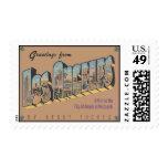 Greetings From Los Angeles, Vintage Postage Stamp