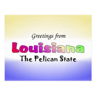 Greetings from Louisiana Postcard