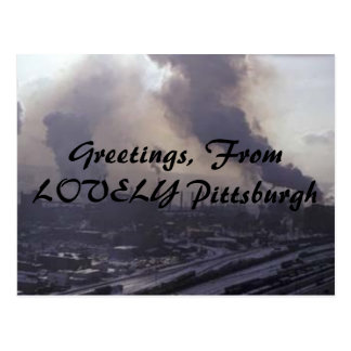 Greetings, From LOVELY Pittsburgh Postcard