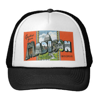 Greetings from Madison, Wisconsin! Trucker Hat
