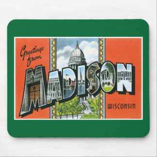 Greetings from Madison, Wisconsin! Mouse Pad