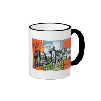 Greetings from Madison, Wisconsin! Ringer Coffee Mug