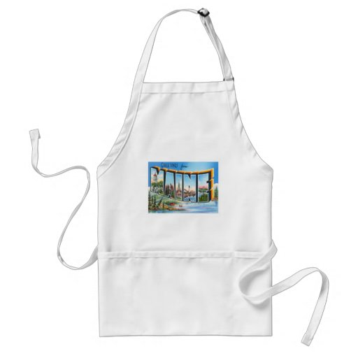 Greetings From Maine Adult Apron