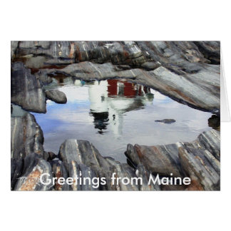 Greetings from Maine Notecard