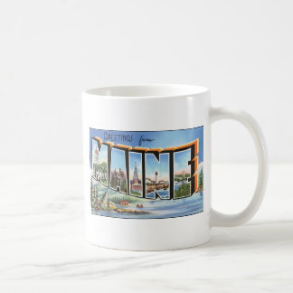 Greetings From Maine, Vintage Coffee Mug