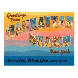 Greetings from Manhattan Beach Postcard