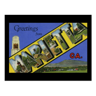 Greetings from Marietta Georgia Postcard