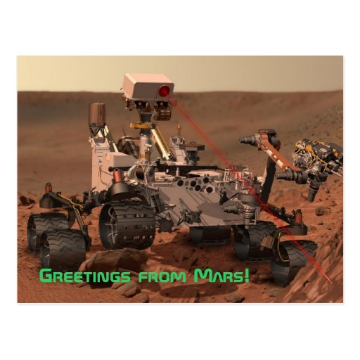 Greetings from Mars! Mars Curiosity Rover Postcard