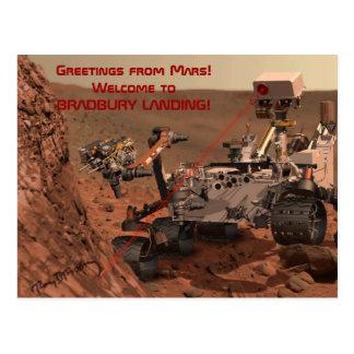 Greetings from Mars! Welcome to BRADBURY LANDING! Postcard
