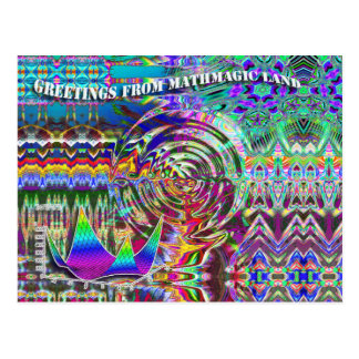 Greetings from MathMagic Land Postcard