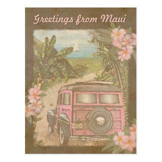 Greetings from Maui Postcard