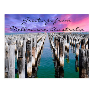 Greetings from Melbourne, Australia Postcard
