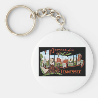 Greetings from Memphis, Tennessee Keychain