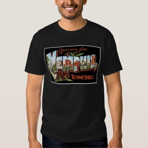 Greetings from Memphis, Tennessee! Retro Post Card T-shirt