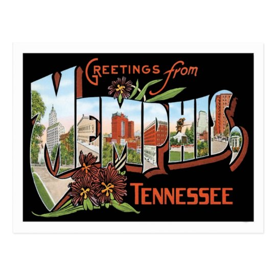 Greetings from memphis tennessee us city postcard zazzlecom for Business cards memphis