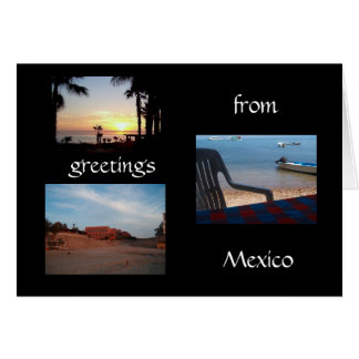 greetings from Mexico card