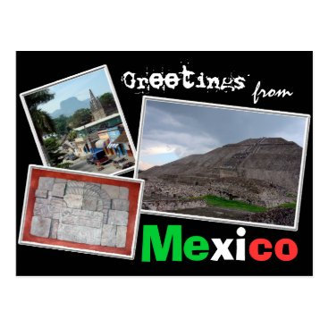 Aztec Themed Greetings from Mexico Postcard