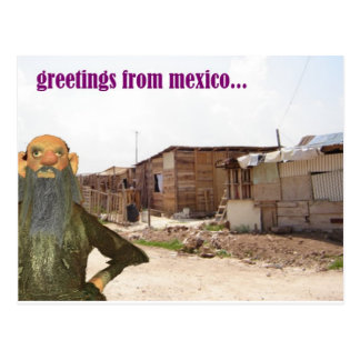 greetings from mexico postcard