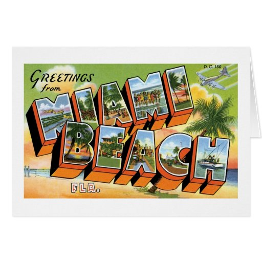 Greetings from Miami Beach, Fl Greeting Card