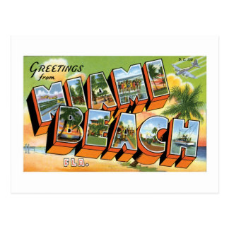 Greetings from Miami Beach, Florida! Postcard