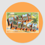 Greetings from Miami Beach, Florida! Round Sticker