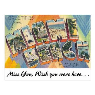 Greetings from Miami Beach Postcard