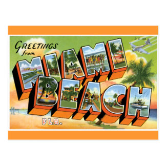 Greetings from Miami Beach Postcard