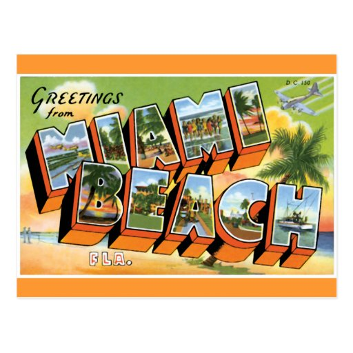 Greetings from Miami Beach Postcards